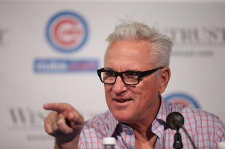 The Chicago Cubs today named Joe Maddon the 54th manager in franchise history, Monday, November 3, 2014. Maddon was introduced at The Cubby Bear sports bar across the street from Wrigley Field in Chicago.   (Brian Cassella/Chicago Tribune)